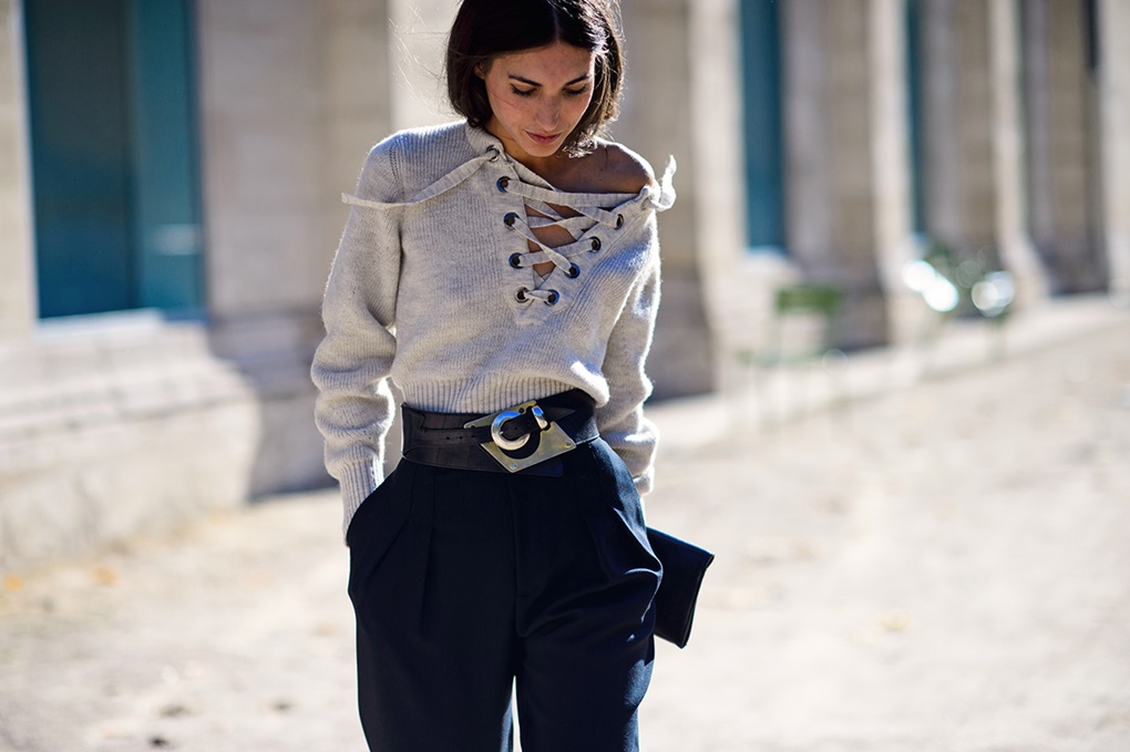 isabel-marant-lace-up-sweater-street-style