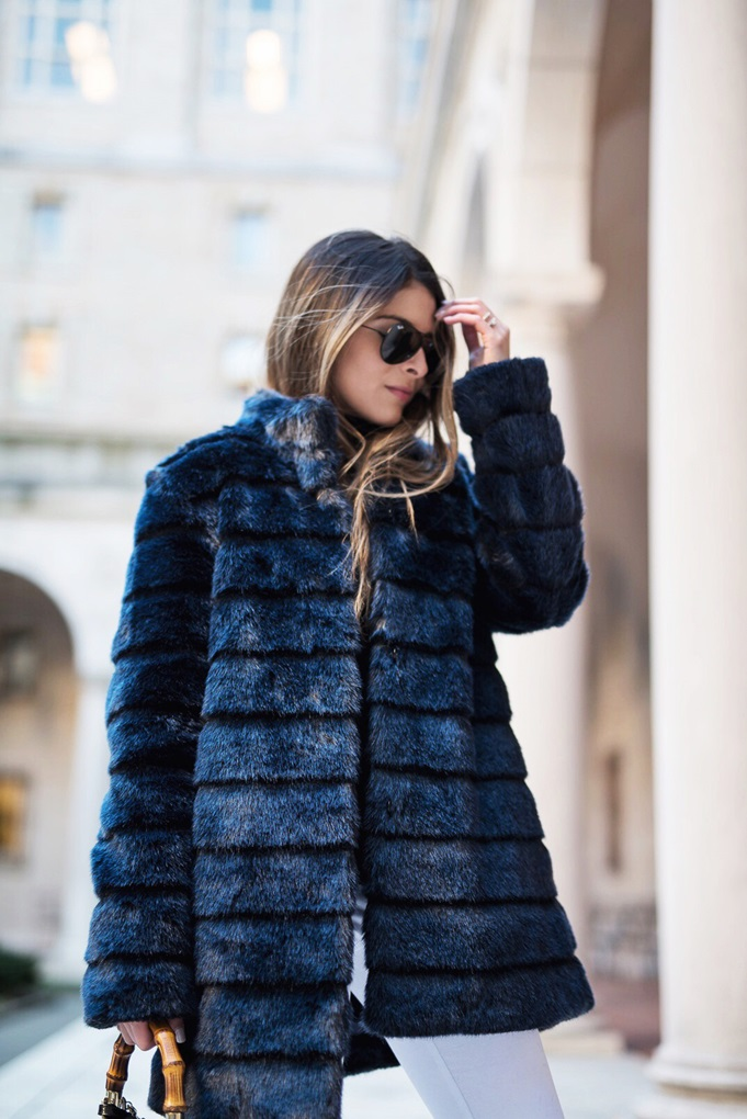 Navy-Faux-Fur-Coat-White-Jeans-Black-Booties-Black-turtleneck-Gucci-Bamboo-Bag-Winter-Chic-Outfit-2