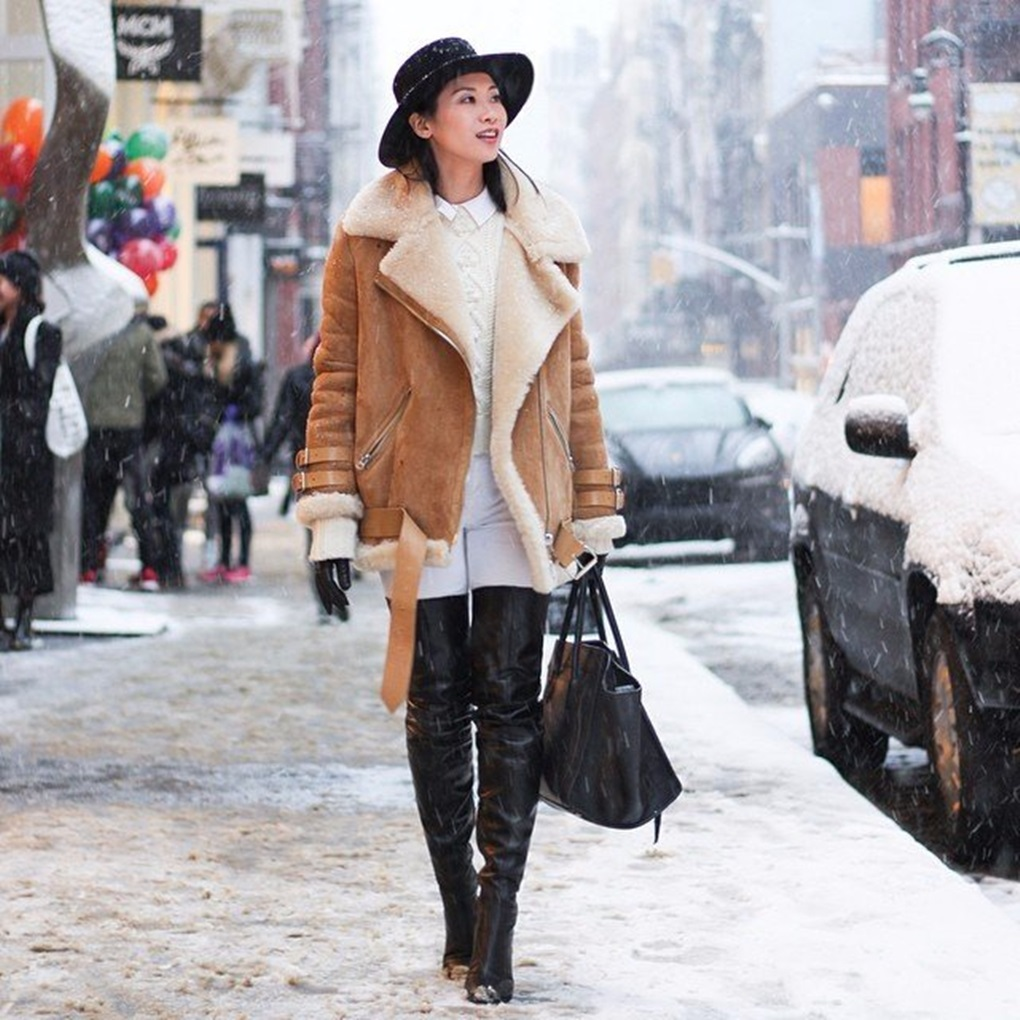 Real-Life-Ways-Wear-Shearling-Jacket-Winter