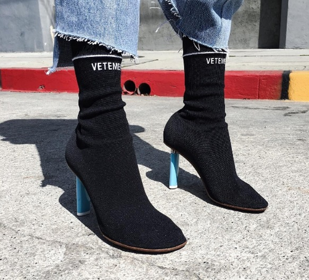Vetements-Sock-font-b-Boots-b-font-Lighter-Heel-Stretch-fabric-Women-font-b-Boots-b