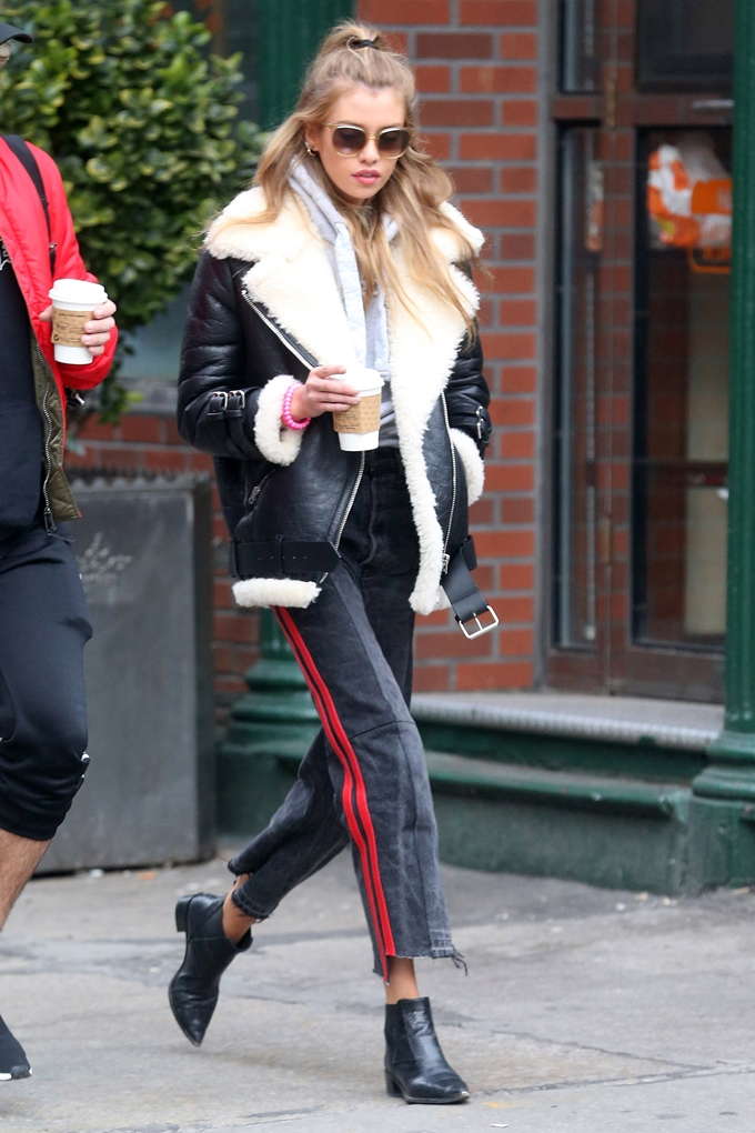 Stella Maxwell spotted out and about in New York City.