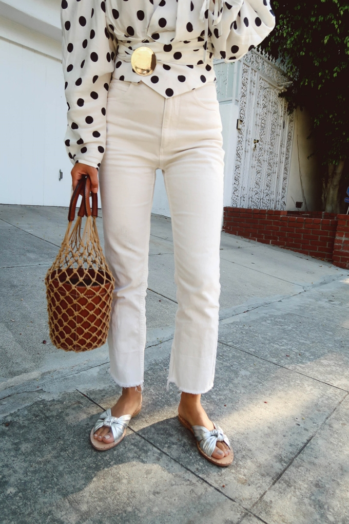 Aimee_song_of_style_jacquemus_wrap_top_loeffler_randall_silver_cross_sandals_Staud_Macrame_Bag