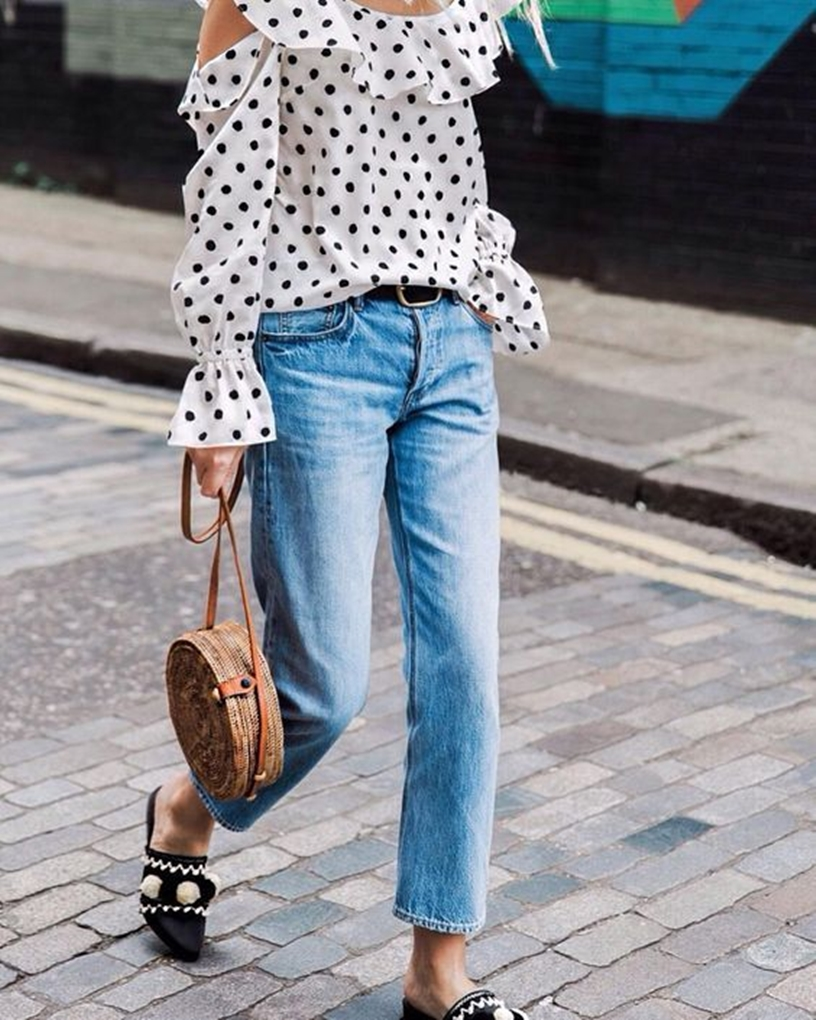 round-basket-jeans-dots